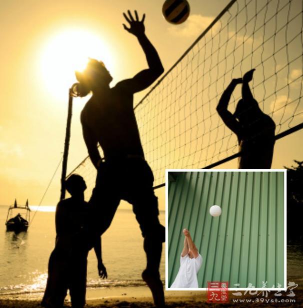 户外运动 打排球的各项技巧 高清图片