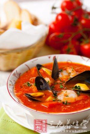 番茄海鲜汤