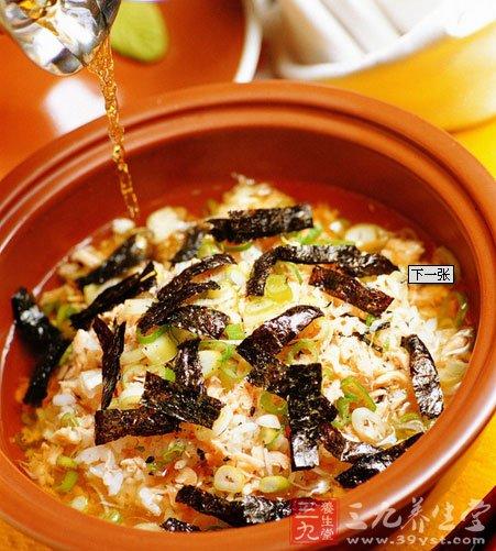 初秋食补 功效各异的紫菜汤