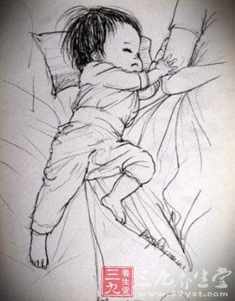 小孩子睡觉比较可爱