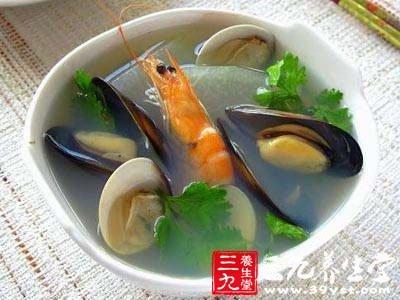 夏季养生食谱海鲜冬瓜汤
