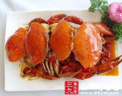 夏季吃虾蟹及贝类食物