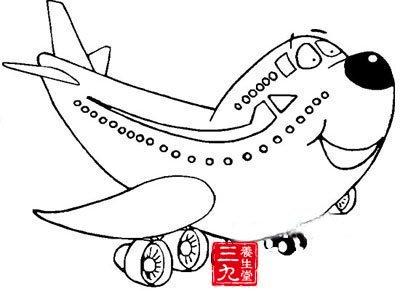 儿童画画飞机大全