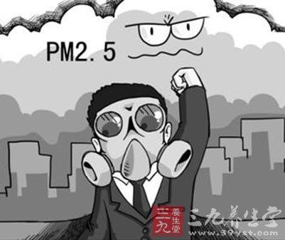 城市雾霾卡通图