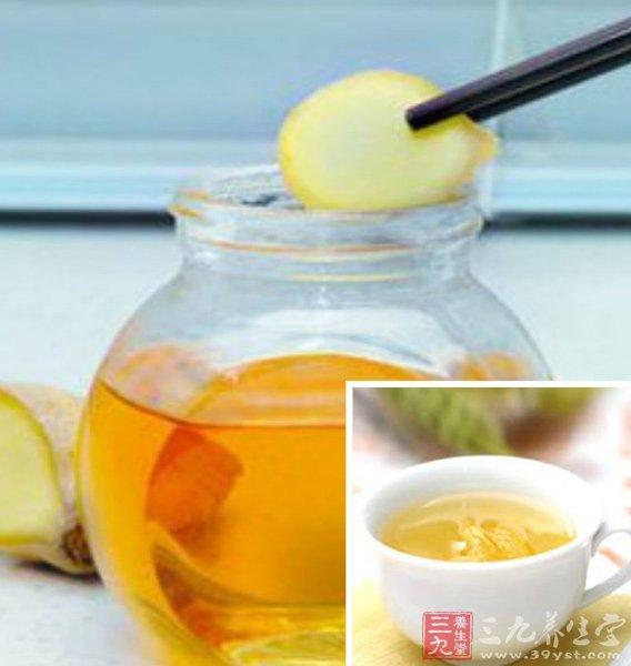 蜂蜜姜汤很营养