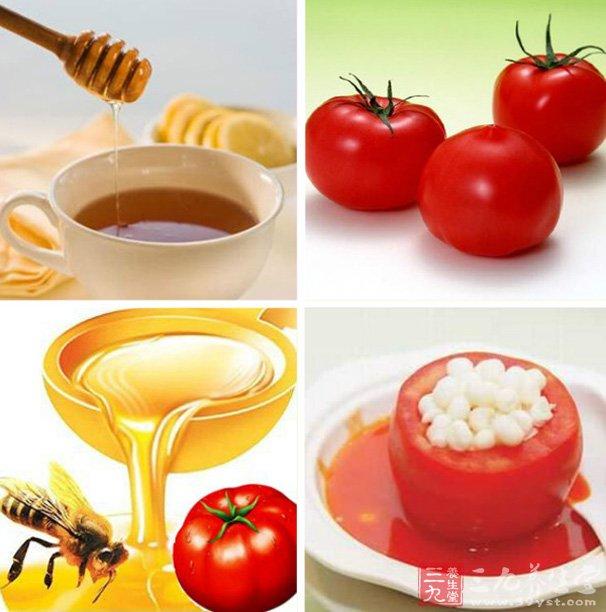 上次已经为大家介绍其他的蜂蜜面膜的制作方法了,今天小编为大家带来的是蜂蜜番茄面膜制作方法。下面就和小编一起去了解下吧。   番茄是食物中含维他命C的重要来源,这些维他命C由于受到有机酸的保护又不易遭到破坏,利用率很高。番茄面膜对有粉刺的油性肌肤有着非常好的治疗效果。蜂蜜自古就是排毒养颜的佳品,番茄中所含番茄红素具有独特的抗氧化作用。两者组合成面膜不会有反作用,经常使用会促使皮肤祛皱湿润美白楚楚动人。   蜂蜜番茄面膜功能   有使皮肤滋润、白嫩、柔软的作用,长期使用还具有祛斑除皱和治疗皮肤痤疮等。