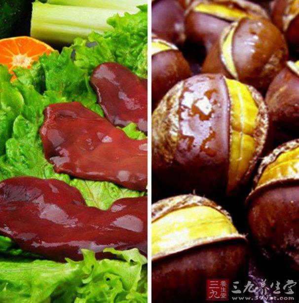 2、血脂偏高者、高胆固醇者忌食。   猪腰的功效与作用   1、甘苦,温。补腰,养血,明目。治血虚萎黄,夜盲,目赤,浮肿,脚气。   2、腰脏是动物体内储存养料和解毒的重要器官,含有丰富的营养物质,具有营养保健功能,是理想的补血佳品之一。   总结:山栗炖猪腰这道菜是不是很简单呢,猪腰子和板栗的营养价值都不错,对老人小孩都是一道不错的菜哦。。