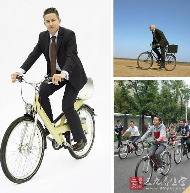 骑自行车上班健身效果很好