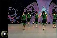 杨艺广场舞 《看了你一眼》背面动作教学视频