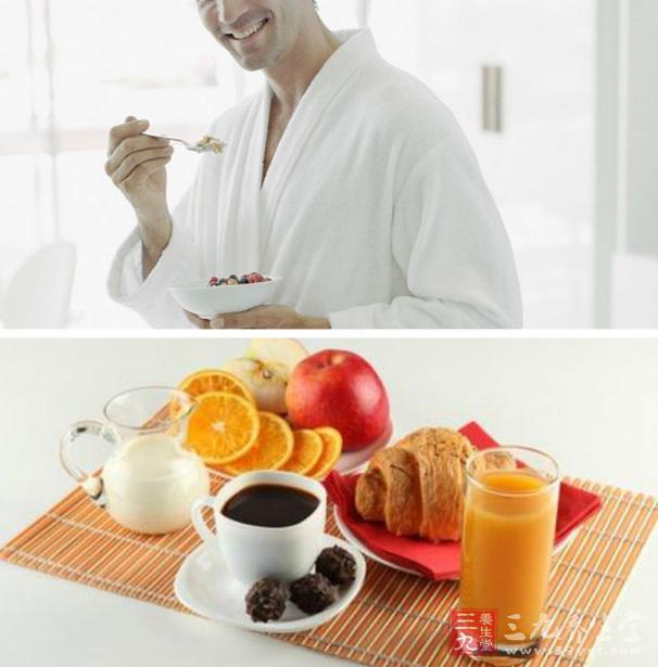 不吃早餐的危害 男人小心易发脾气图片