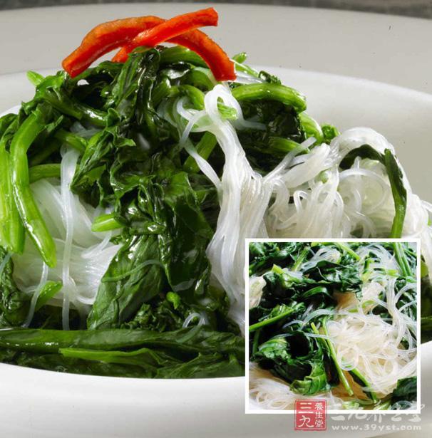 芥末菠菜拌粉丝 清凉的夏季拌菜