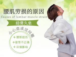 腰肌劳损的△原因 久坐小心造成这个问题