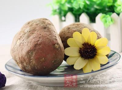 红薯含有大量不易被消化酶破坏的纤维素和果胶